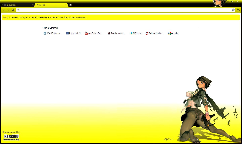 Google chrome themes yellow - Skin