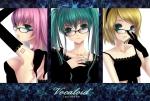 Konachan.com - 84124 glasses hatsune_miku kagamine_rin megurine_luka ouka_mai twintails vocaloid