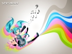 Konachan.com - 84525 aqua_hair hatsune_miku headphones rainbow thighhighs twintails vocaloid