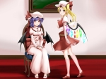 Konachan.com - 85368 dress flandre_scarlet miki_plus red_eyes remilia_scarlet ribbons touhou vampire
