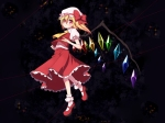Konachan.com - 85684 blonde_hair chika flandre_scarlet hat loli ponytail red_eyes short_hair touhou wings