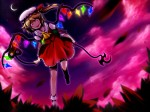 Konachan.com - 86718 blonde_hair flandre_scarlet hat red_eyes touhou vampire weapon wings