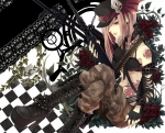 Konachan.com - 105928 boots flowers gloves gun hat janis long_hair original red_eyes weapon
