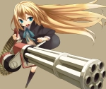 Konachan.com - 98189 blonde_hair blue_eyes gun haruken original weapon