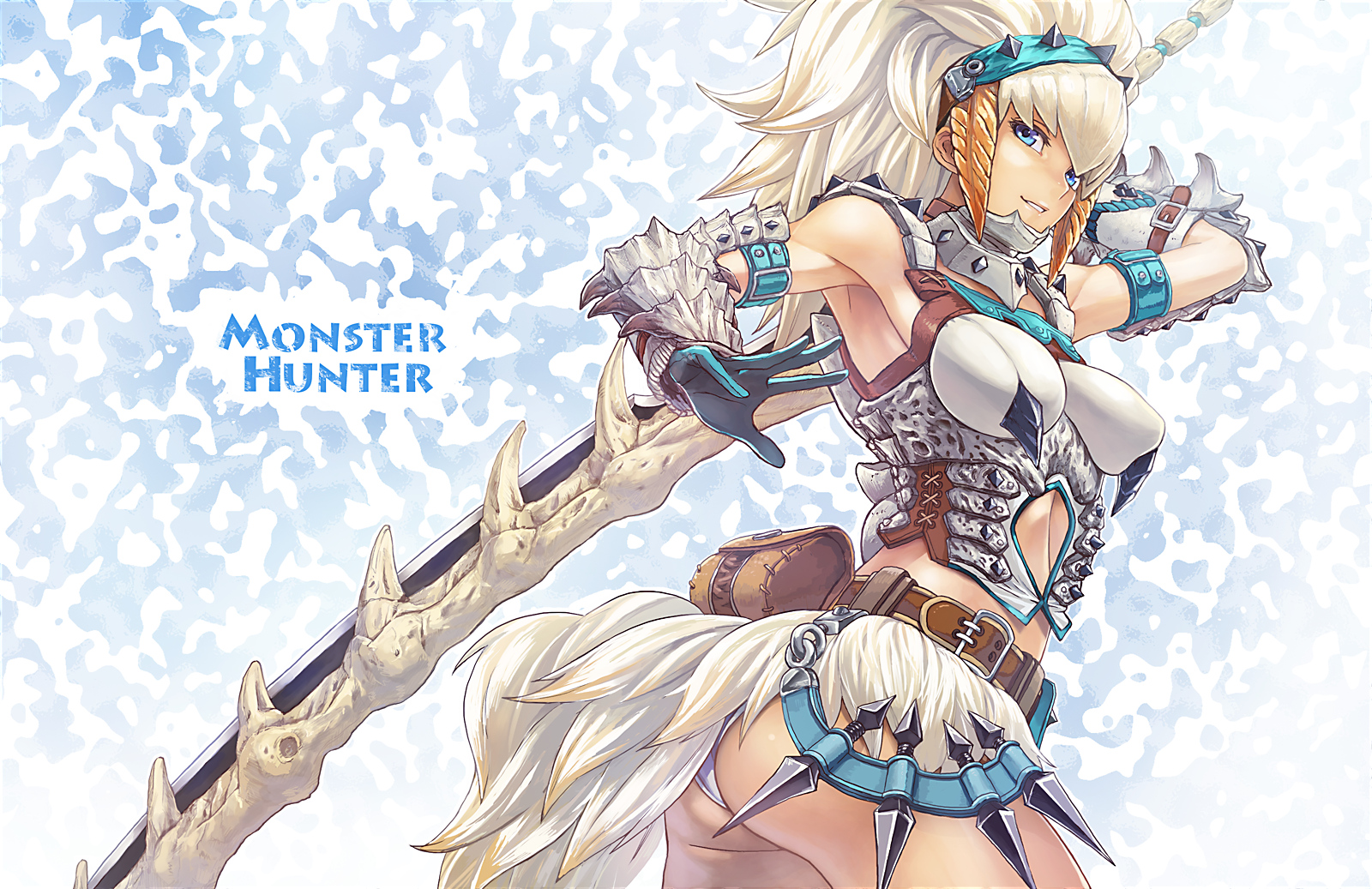 Images of anime girls from monster hunter  naked scene