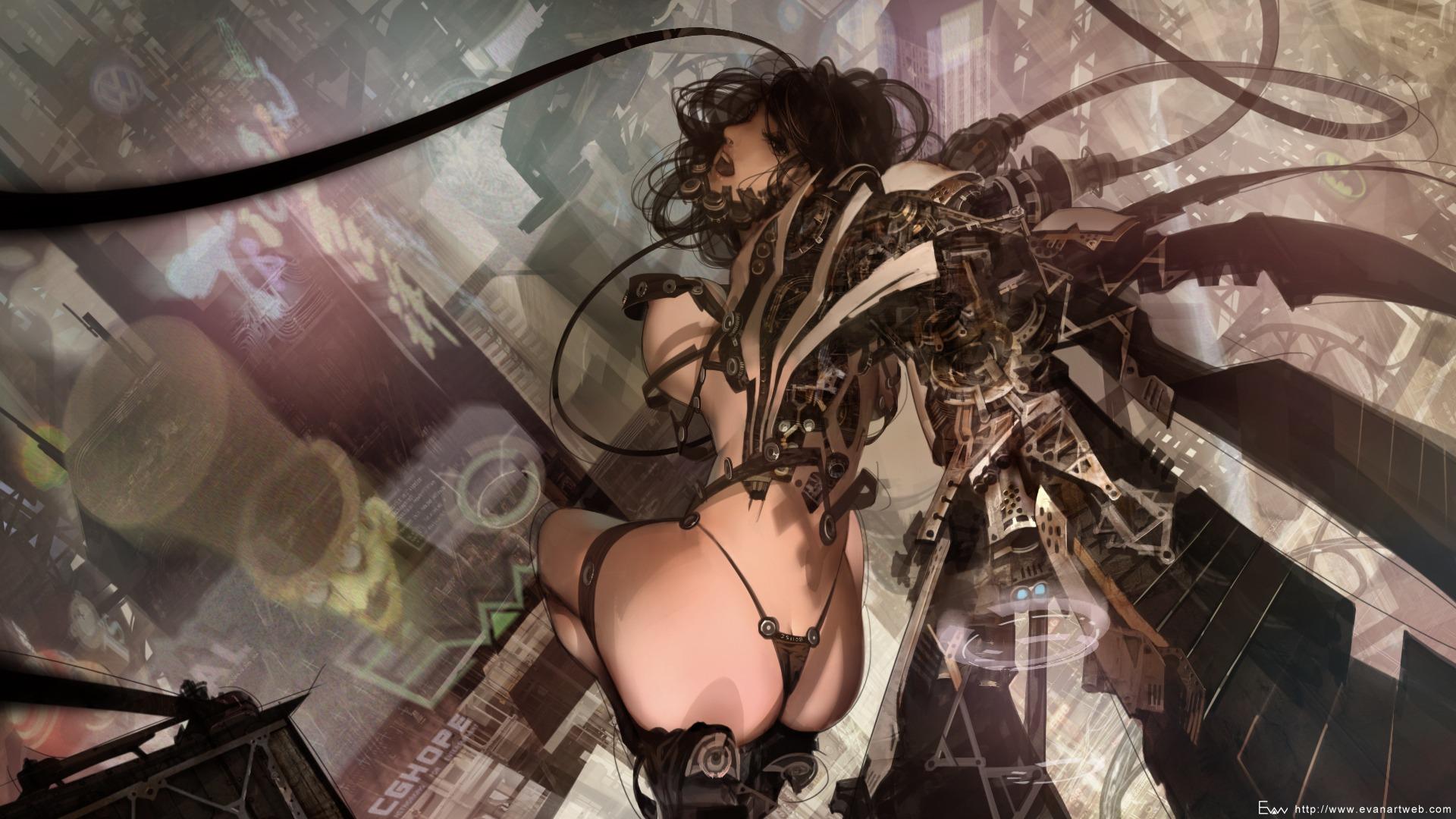 Sci fi fantasy nude girl art wallpapers hentia scenes