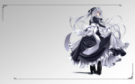 Konachan.com - 80426 gray_hair long_hair maid red_eyes seifuku tagme