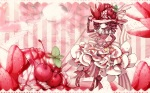 Konachan.com - 80686 cherry dress food gloves hat red_eyes red_hair ribbons strawberry tagme
