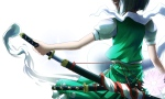 Konachan.com - 100874 flowers katana konpaku_youmu puretails sword touhou weapon