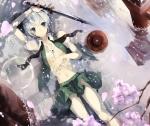Konachan.com - 101365 konpaku_youmu muso-comet petals sword touhou water weapon wet