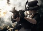 Konachan.com - 103064 blonde_hair gun hat imizu kirisame_marisa touhou weapon