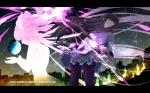 Konachan.com - 103263 akemi_homura bow kaname_madoka mahou_shoujo_madoka_magica pink_hair tsukumo weapon