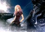 Konachan.com - 107425 blue_eyes gloves gun long_hair pink_hair redjuice weapon