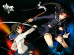 Konachan.com - 77058 chain ga-rei_zero isayama_yomi seifuku skirt sword tsuchimiya_kagura weapon white