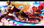 Konachan.com - 80973 akebane hat hoshii_miki idolmaster pink sword weapon