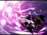 Konachan.com - 82495 blue_hair cape caster fate_stay_night magic mihane staff weapon