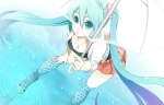 Konachan.com - 87319 aqua_eyes aqua_hair boots hatsune_miku long_hair rkp twintails umbrella vocaloid water