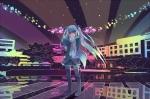 Konachan.com - 88489 hatsune_miku rampak thighhighs tie twintails vocaloid