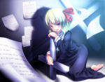 Konachan.com - 90631 blush cross rumia ryosios short_hair touhou
