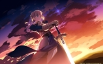 Konachan.com - 96409 fate_stay_night saber sky sword weapon