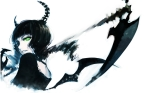 Konachan.com - 128507 black_rock_shooter green_eyes horns scythe sola7764 takanashi_yomi weapon white wings
