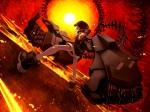 Konachan.com - 130889 black_rock_shooter fire koutari_yuu lain_(artist)