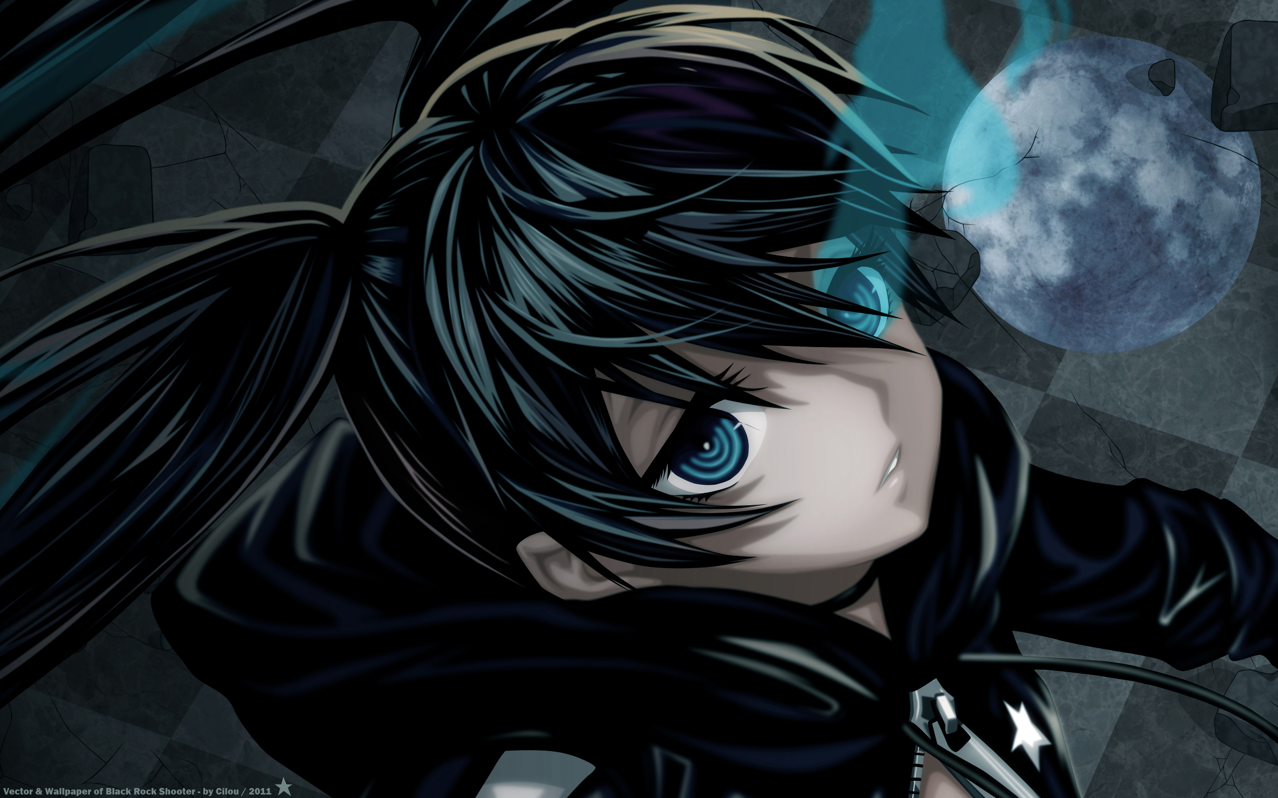 Black rock shooter wallpapers pack 16 04 12 - Blue anime wallpaper ...