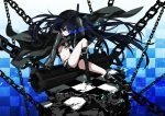 Konachan.com - 46410 black_rock_shooter chain katana kuroi_mato scar sword weapon