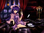 Konachan.com - 96201 book hat patchouli_knowledge purple_eyes purple_hair touhou zzz36951