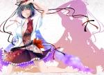 Konachan.com - 96561 barefoot cleavage hat reiha ribbons shameimaru_aya touhou wings