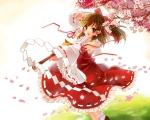 Konachan.com - 96959 funifuni hakurei_reimu japanese_clothes miko petals touhou