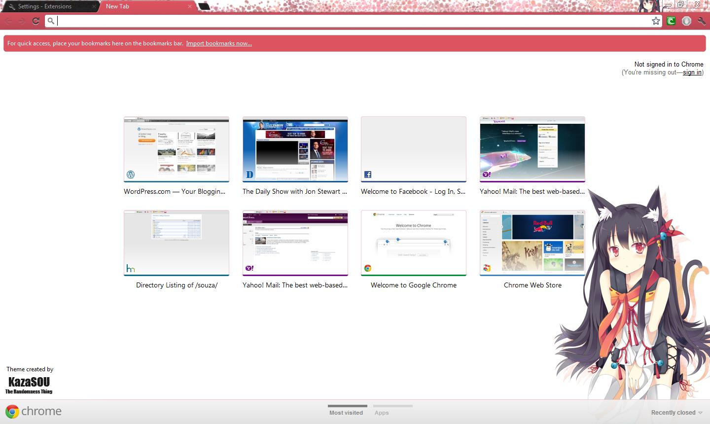 Google Chrome Theme: Neko Girl 2 | Randomness Thing