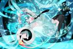 Konachan.com - 92875 aqua_eyes aqua_hair hatsune_miku temoshi thighhighs tie twintails vocaloid wink