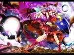 Konachan.com - 97660 bow hakurei_reimu kamiya_yuu red_eyes skirt tattoo touhou