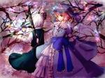 Konachan.com - 97944 butterfly dress hat hawatari158 konpaku_youmu saigyouji_yuyuko touhou weapon