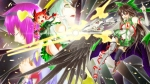Konachan.com - 99104 animal_ears brown_hair crying dress green_eyes green_hair group hat long_hair red_eyes red_hair short_hair skirt stars thighhighs touhou weapon wings