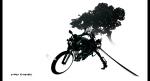 Konachan.com - 99144 kiku_(kicdoc) konpaku_youmu motorcycle sword touhou tree weapon white