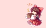 Konachan.com - 101253 blush brown_eyes brown_hair chibi hakurei_reimu touhou yuya_(night_lily)