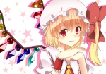 Konachan.com - 101438 blonde_hair bow flandre_scarlet hat red_eyes touhou wings