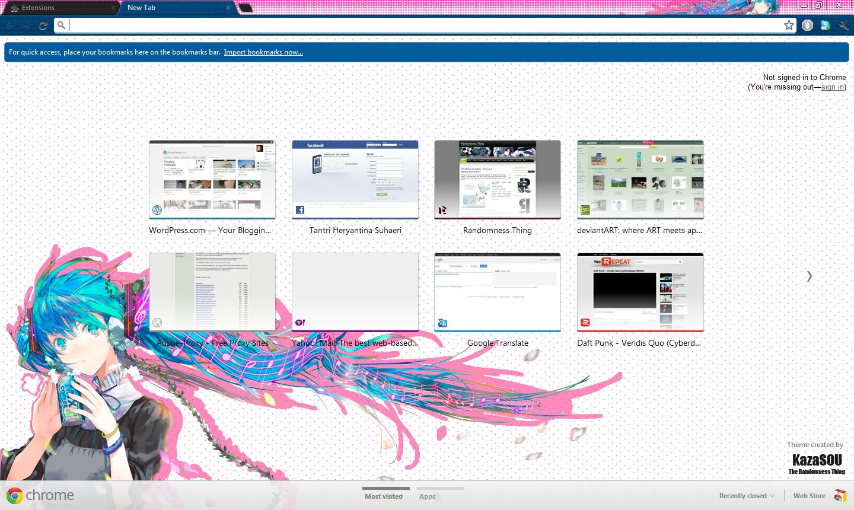 Google themes hatsune miku - Skin Name Hatsune Miku 6