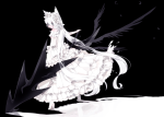 Konachan.com - 87482 animal_ears dress long_hair mizushirazu original white_hair wings