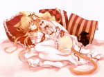 Konachan.com - 90231 animal animal_ears cat catgirl dress kuroya_shinobu panties tail thighhighs underwear