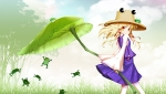 Konachan.com - 102891 dress frog hat hong_(white_spider) moriya_suwako touhou