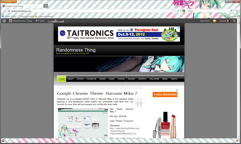 Google themes hatsune miku - Skin Name Hatsune Miku