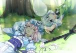 Konachan.com - 103473 2girls dress konpaku_youmu saigyouji_yuyuko sword t-ray touhou weapon