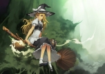 Konachan.com - 103864 blonde_hair dress hat kirisame_marisa kunieda touhou witch