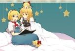 Konachan.com - 104389 alice_margatroid blonde_hair chibi kirisame_marisa stars touhou