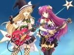 Konachan.com - 105213 cleavage guitar kirisame_marisa mickey_dunn patchouli_knowledge stockings thighhighs touhou witch