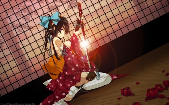 Konachan.com - 145533 japanese_clothes katana refeia sword vector weapon