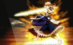 Konachan.com - 123257 blonde_hair dress fate_stay_night fate_zero green_eyes ribbons saber sword weapon